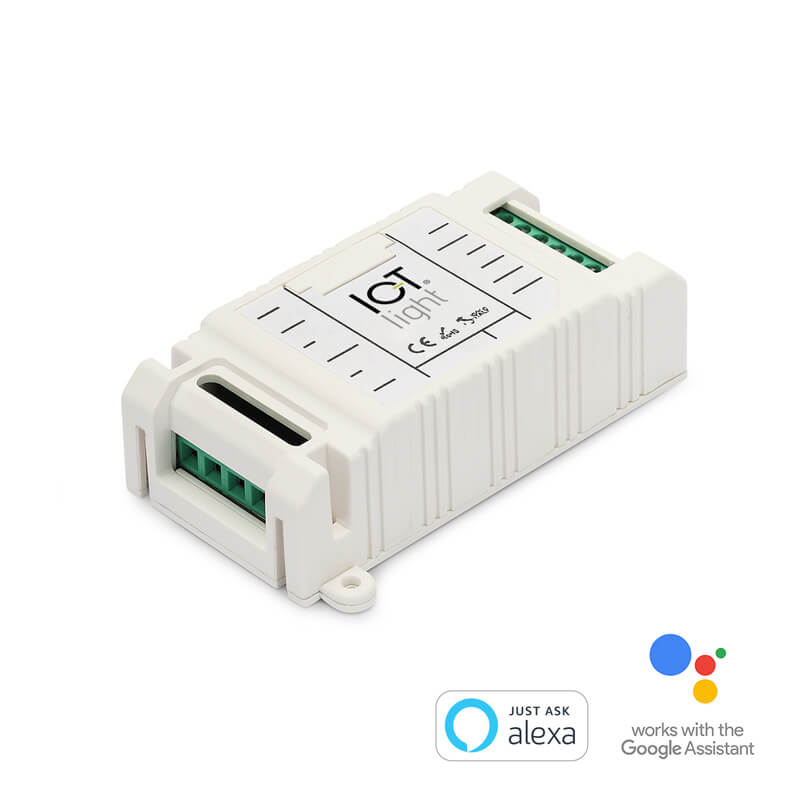 Double SSR relays controllable via wifi and voice assistant